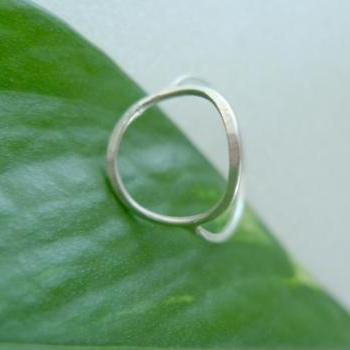 Sterling Silver Circle Ring Made in Any Size -Balance Ring